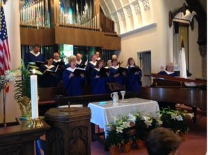 Chancel Choir on Easter Sunday