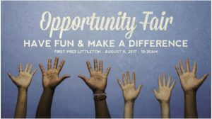 Opportunity Fair:  Have Fun & Make a Difference – Sunday, August 6th