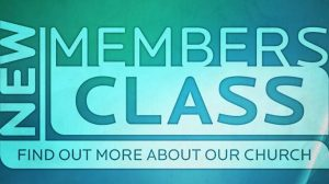 New Member's Class Begins Tuesday, August 29th