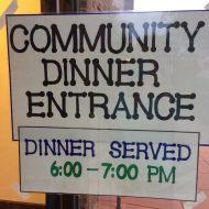 Lining up for FPCL's September Community Dinner
