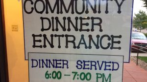 Lining up for FPCL's September Community Dinner