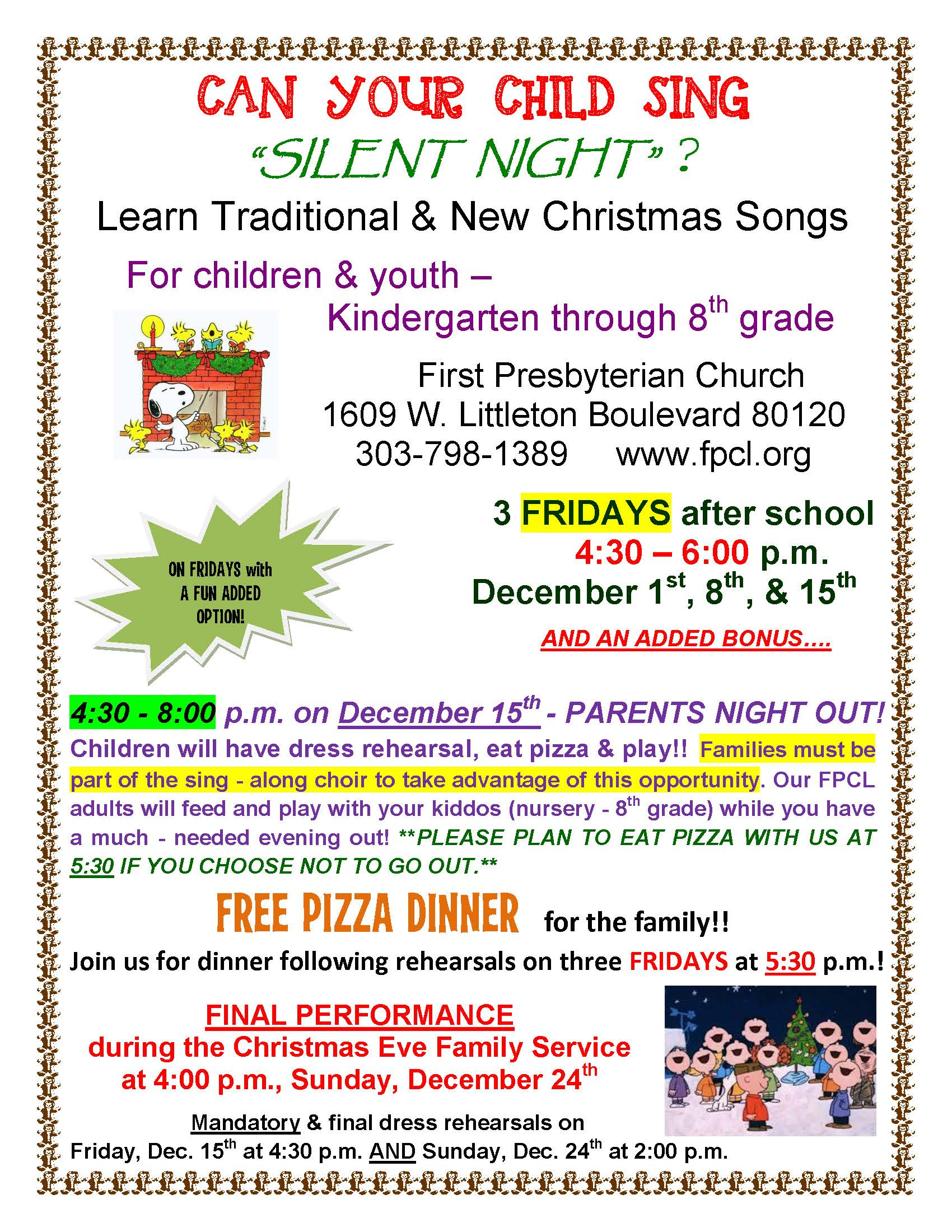 CHRISTMAS SING-ALONG – 17 – First Presbyterian Church of Littleton
