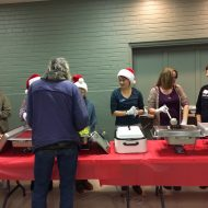 Frigid outside …. but warm and welcoming inside for FPCL's December Community Dinner