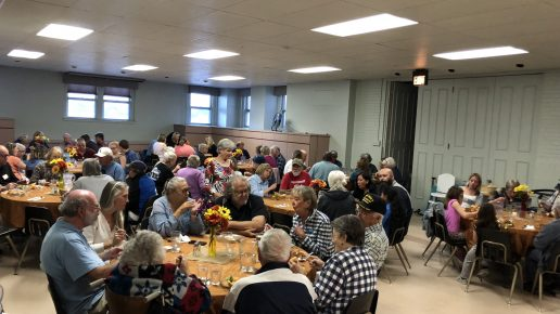 September Community Dinner Guests Enjoy an Italian-style Meal