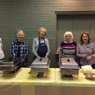 Community Dinner Diners Enjoy Easter Ham