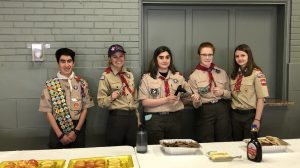 New 444 Lady Mountaineers Troop Sponsors the May Pastor's Breakfast