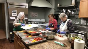 May Community Dinner Diners enjoyed BBQ