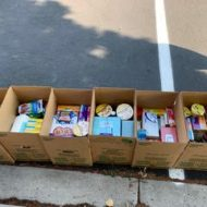 FPCL Youth serve our community through a food drive for Littleton's Nourish Meals on Wheels!